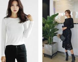 รวมชุดแต่งกายโทนสีขาว-ดำ สไตล์เกาหลี
